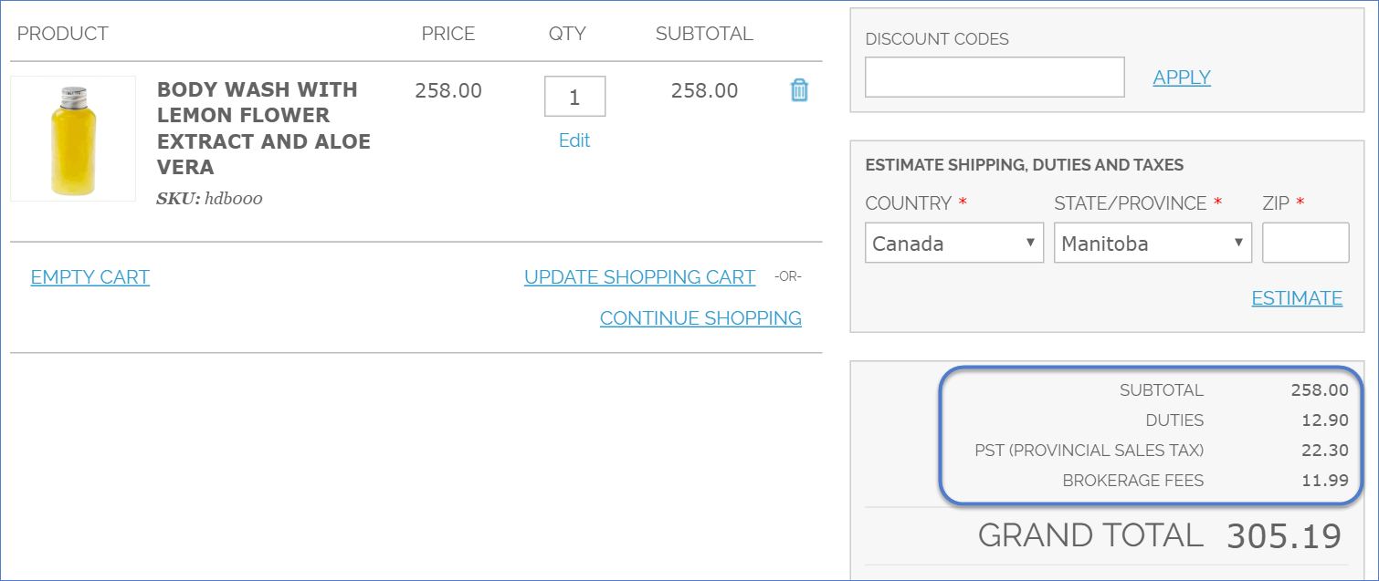 Intuitive JSON-Based API Web Services in Shopping Cart
